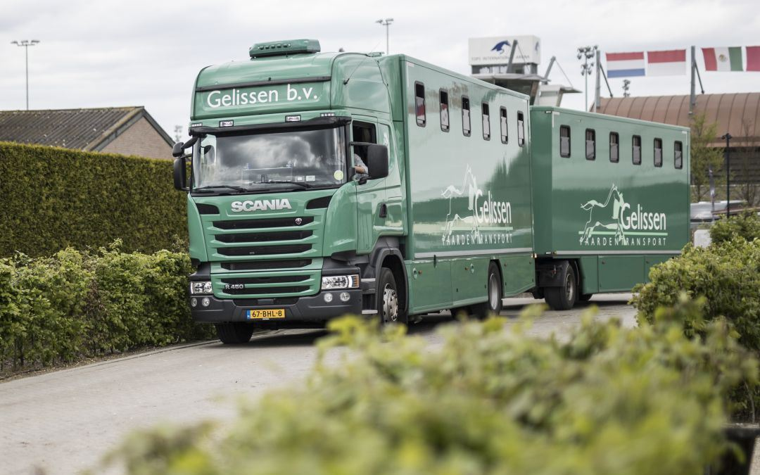 Transport and stay over of American world cup horses